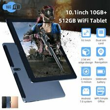"Android WiFi 10.1"" Tablet 10+512GB Pad 10Core Dual Game Phone Tablet Computer HD"