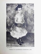 Pierre Auguste Renoir Heliogravure Limited Portrait de Mademoiselle Durand 1921