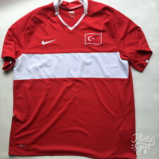 Men's Nike Red 2008-2010 Turkey Football Shirt  Size XL