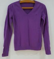 Ladies V Neck Jumper Purple By Esprite Size UK S<MP1264