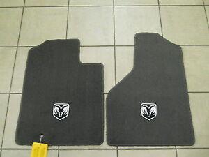 DODGE Ram Premium SLATE GRAY Carpeted Floor Mats NEW OEM MOPAR