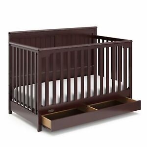 Graco Hadley 4-in-1 Convertible Crib with Drawer Pebble Gray