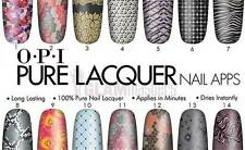 OPI Pure Lacquer Nail Apps 16 Pre-cut Strips Geometric Sparkle Ap102