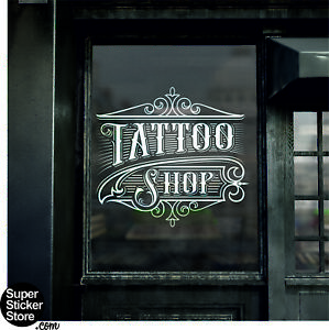 Tattoo Shop Salon Window Sticker Wall Signs Decal Traditional Modern New Style