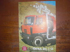 Prospekt Sales Brochure Car Auto  автомобиль tatra 815 - 2 S3 815. 2 S3 28 210