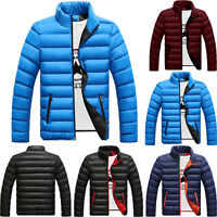Mens Warm Bubble Hoodie Coats Winter Padded Puffer Jacket Quilted Zip Up Outwear