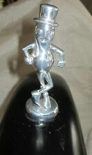 Topper hood ornament mascot Mr Peanut Planters Man polished aluminum no cane USA