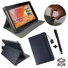 Alcatel 1t 7 cuero bolso Tablet cuero genuino negro 7.8