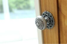 Large-Antique Pewter Furniture Door Drawer Pull Kitchen Cabinet Handle Knob 001L