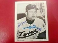 STAN WILLIAMS Baseball MINNESOTA TWINS Pitcher Signed Photo Autograph Auto