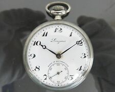 100% Authentic LONGINES Hand Winding Pocket Watch 15Jewels EFCO 20149 102