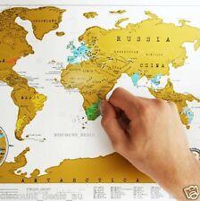 World Map Scratch Mark Travel Holiday Location Destination Ideas Maps Scratchie