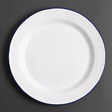 6 X Olympia Emaille Speiseteller 245 Mm Service Küche Geschirr