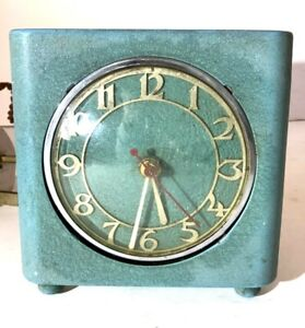Vintage 1930s bedside Electric clock by goblin