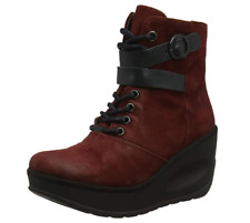 Fly London Women's Jabi070fly Ankle Boots Red Black Size UK 7