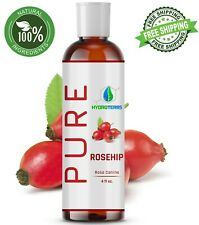 Rosehip Seed Oil 4 oz Cold Pressed 100% Pure Organic Refined For Skin Face Hair