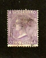 Great Britain stamp #50, used, plate 6, Queen Victoria, 1867-1880, SCV $92