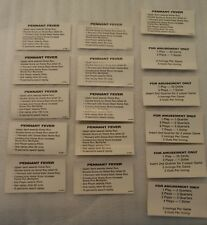 Williams Pennant Pinball Machine Vintage Lot of Score & Price Cards!