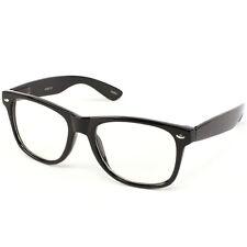 Nerd Geek Retro Clark Kent Clear Lens Buddy Eye Glasses Black  Frame