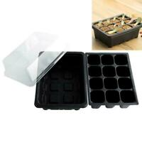 12 Cell Seed Starter Starting Plant Propagation Tray 18.7*14.5*11cm Garden