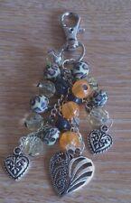 hand-made handbag charm/keyring- leopard print  -girls/ladies
