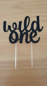 'Wild One' glitter cake toppers for baby's first birthday cake or smash cake
