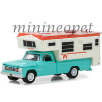 GREENLIGHT 29923 1965 DODGE D-100 with WINNEBAGO CAMPER 1/64 DIECAST TURQUOISE