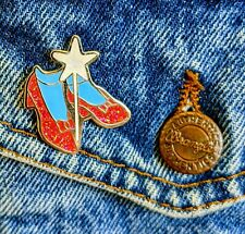 Ruby Slippers Wizard of Oz Dorothy enamel pin badge