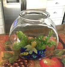 Classic Drum Style Fish Bowl 1 Gallon with Accessories