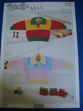 Peter Pan Aran Baby Sweater Knitting Pattern P729