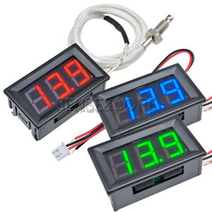DC 12V K-type Thermocouple Temperature Meter XH-B310 Digital LED Thermometer