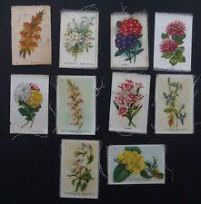 Cigarette Trade Cards:10 Silk Flowers