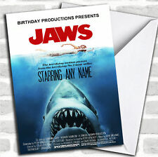 Spoof Jaws Shark Movie Poster Funny Birthday Customised Card