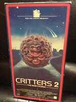 Critters 2 vhs red border rare htf