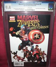 MARVEL ZOMBIES ARMY OF DARKNESS #4 DYNAMITE MARVEL COMIC 2007 series - CGC 9.4