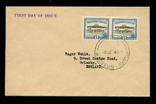 WESTERN SAMOA 1949 POST OFFICE 5d PAIR FDC
