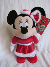 "New 13"" Musical/Animated Minnie Mouse Disney Christmas Plush Sings Deck the Hall"