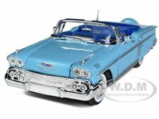 1958 CHEVROLET IMPALA BLUE 1/24 DIECAST MODEL BY MOTORMAX 73267
