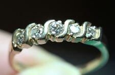 Natural 1/2 CTW 5 Round Diamond Anniversary Wedding Band Handmade Ring 14K Gold!