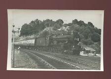 Devon KINGSWEAR RAILWAY loco #7004 Eastnor Castle with Torbay Express 1955 photo