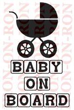A5 Baby a bordo di ferro sul trasferimento maternità gravidanza Design 8x6 trasferire Design