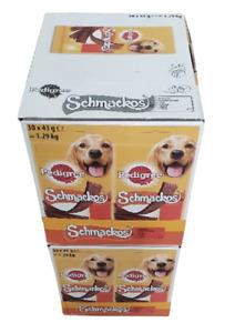 300 x Pedigree Schmackos Beef 2 FULL BOXS 60 Packs Of 5 (300) 09.05.2021