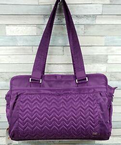 Lug Caboose Carry All Bag Plum Purple Tote or Diaper Bag NWT READ! Nice Bag