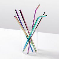 Reusable Stainless Steel Metal Drinking Straw Washable Straight/Bent Straws