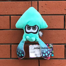 """Nintendo Splatoon Game Plush Toy Squid Allstar Collection Cute Doll Turquoise 9"""""""