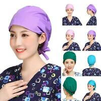 Scrub Cap Medical Doctor Nurse Cotton Bouffant Hat Adjustable HeadCover NEW