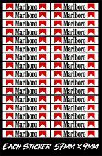Marlboro Slot Car Scalextric Small Model Racing Barrier Vinyl Stickers x32