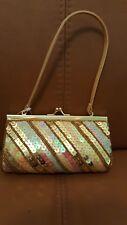 New Look gold sequinned mini handbag