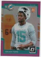 2017 Donruss Optic Football Pink Parallel RC #137 Isaiah Ford Dolphins