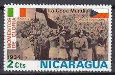 Nicaragua Briefmarke postfrisch Fußball WM Italien Tschechoslowakei 1934 / 24
